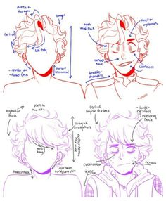Guy Drawing, Drawing Base, Drawing People, Drawing Tips, Anime Hair Drawing, Drawing Male Hair, Boy Cartoon Drawing, Realistic Hair Drawing, Side View Drawing