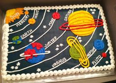 Sweet Treats by Susan: Outerspace/Planet Cake