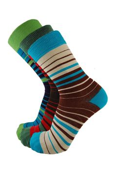 Men's 1 Pair socksupermarket Gradual Stripe in 3 Colours - Men's Socks | Socksupermarket