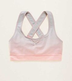 Aerie Seamless Longline Sports Bra.  Work out with simple support or lounge in with pretty details. #Aerie