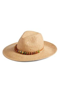 f6cc76126c7 Free shipping and returns on Hinge Wrapped Bead Trim Straw Panama Hat at  Nordstrom.com