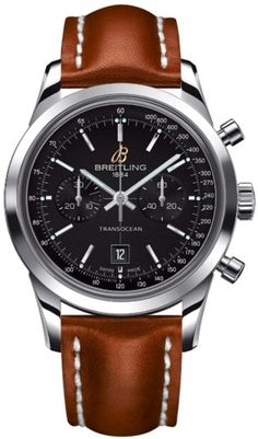 #Ladies #Breitling Transocean Chronograph 38 Watch.  Made for women, this Breitling Transocean Chronograph 38mm Watch is designed to bring much presence to the smaller wrist.  http://www.bankslyon.co.uk/breitling-transocean-chronograph-38mm-watch