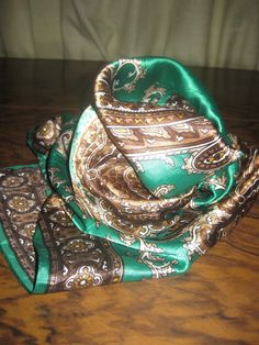 Paisley Scarf green scarf Spring scarf woman by AntiquesNejadStyle, $18.00