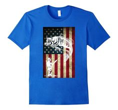 Fishing United States Flag T-shirt
