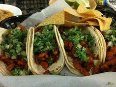 Tacos Al Pastor.  I LOVE Al Pastor tacos!!