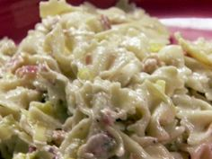 Pasta with Pancetta and Leeks --- Try this recipe but with whole milk yogurt instead of heavy cream