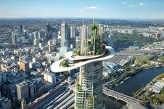 World Architecture Community News - MAD's tower features a mix of natural forms for Southbank by Beulah competition in Melbourne Architect Logo, Architect Design, Architect House, Green Architecture, Futuristic Architecture, Biophilic Architecture, Futuristic City, Amazing Architecture, Architects Melbourne