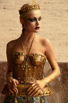 Viktoriya Sasonkina by Greg Lotus for Vogue Italia October 2013 #byzantium