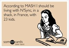 The 90s lied to me.  Ha!  I forgot about MASH!  Wonder who came up with that game...