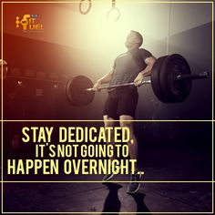 Stay dedicated to your goal. You have to suffer pains. Great things don't happen overnight.  #MFFMotivation