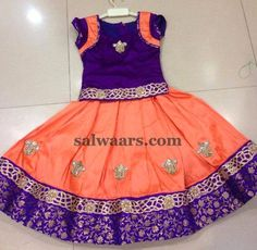 Peach and Purple Lehenga - Indian Dresses
