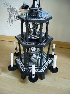 nightmare before christmas pyramid. the most awsome thing i have seen so far. done by the one and only Mara Macabre