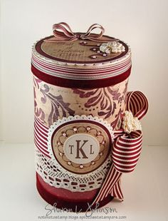 » Ribbon Inspiration/Stamp Simply Style – The Tin Can