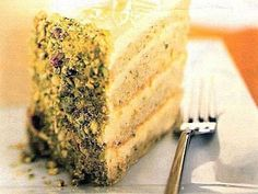 Fotorecepty: Jablkovo pistáciová torta