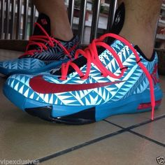 NIKE N7 KD VI 6 KEVIN DURANT 2013 LIMITED 626368-466 TURQUOISE RED BLACK