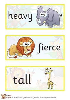 Teacher's Pet - Dear Zoo Labels - FREE Classroom Display Resource - EYFS, KS1, KS2, dear zoo, zoos, wild, animals, story, lion, monkey, snake, frog, giraffe