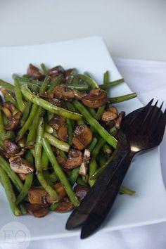sperziebonen met champignons