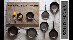 After 7 great Kickstarters Australian-made seamless formed-iron skillets get SHOTBLAST. Cooks/seasons like cast iron + easier + LIGHTER