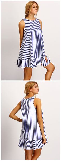 The Vertical Stripes Tent Dress is the perfect dress for twirling and adventuring in! Features vertical stripes, a tent silhouette and overall flowy fit. Pair with strappy flatforms or even casual sneakers!