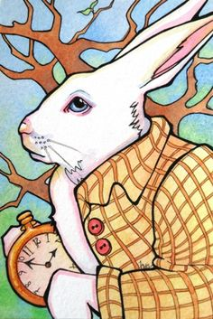 Tracy Lewis.     fractured fairy tales: White Rabbit