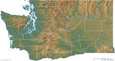 Washington state physical map