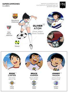 Supercampeones, también conocido como Capitán Tsubasa, es una serie animada de fútbol muy recordada por muchos de nosotros.  En este post,  les proponemos descubrir la trayectoria de clubes de los principales protagonista. Captain Tsubasa, Old Anime, Anime Guys, Manga Anime, Mileena, Old Cartoons, Manga Games, Anime Comics, Power Rangers