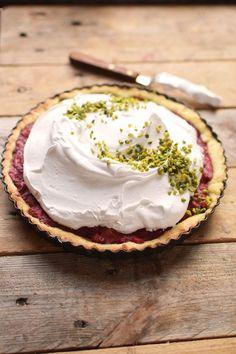 Erdbeer Rhabarber Meringue Pie - Strawberry Rhubarb Meringue (3)