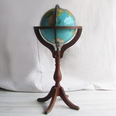 Floor Standing World Globe now featured on Fab. For some reason I am just loving Vintage World Globe's right now..might have to find a cool one for my own house.