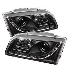 Spyder Auto 444-VOS4097-DRL-BK | 2003 Volvo S40 Black DRL LED Projector Headlights for Sedan