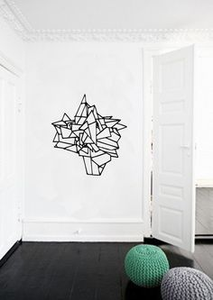 Hand Drawn Geometric Ball Wall Decal van FJOLL op Etsy