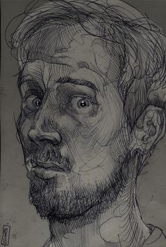 Self Portrait by Philipp Banken on Curiator, the world's biggest collaborative art collection. Illustration Sketches, Portrait Drawing, Sketches, Art Drawings, Ap Art, Illustration Art, Art Inspiration, Portrait, Portrait Art