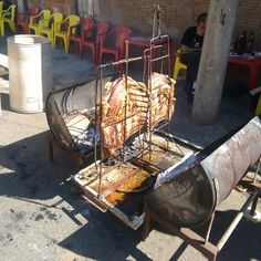 Asado Grill, Bbq Grill, Grilling, Carne Asada, Barrel Smoker, Barrel Projects, Smoke Grill, Bbq Tools, Grill Design