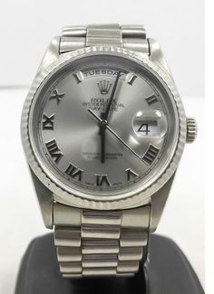 Rolex 18239 Day Date President 18k White Gold Automatic Watch | 300watches