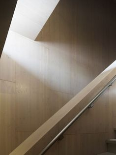 Daylight entering the staircase of the fire station in Dordrecht, The Netherlands by René van Zuuk Architekten. Photo by Christian Richters.