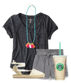 """""""A POP of color"""" by flroasburn ❤ liked on Polyvore featuring American Eagle Outfitters and MANGO"""