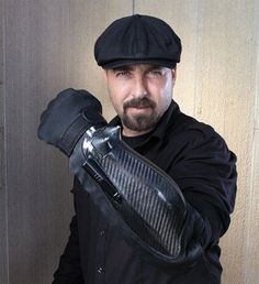 The Bodyguard The device is a heavy armored glove equipped with a powerful taser, laser pointer, flashlight and camera –
