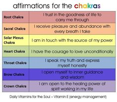 A quick chart for very powerful Chakra Healing Affirmations. Find out both the cause and the cure for your Chakra/energy centers not working perfectly. Ayurveda, Chakra Meditation, Chakra Healing, Chakra Cleanse, Chakra Mantra, Daily Meditation, Mind Body Spirit, Mind Body Soul, Reiki