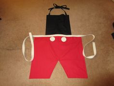 """Disney inspired """"Mickey Mouse"""" apron"""
