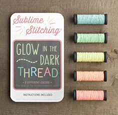 Glow in the Dark Thread: this would be interesting to use...