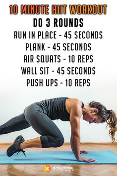 10 Minute At Home HIIT Workout - Xperience Fitness