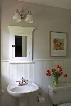 Beautiful bathroom remodel.   Complete DIY information and products used in this project, visit:  http://www.beneathmyheart.net/2012/07/one-project-closers-before-and-after-series-weekly-winner/#