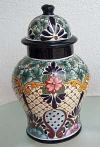 Talavera Jar w/ Lid - Mexican Connexion for Talavera Pottery [ MexicanConnexionforTile.com ] #shop #Talavera #Mexican