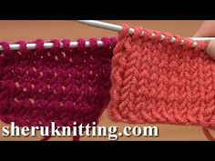 ▶ CONTINENTAL: Stockinette Stitch Knitting, double needle co, edge stitch purl wise, last edge stitch-purl.  Knit right side, purl wrong side - YouTube