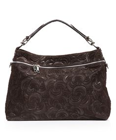 Look what I found on #zulily! Dark Brown Leather Swirl Hobo Bag by Mila Blu #zulilyfinds