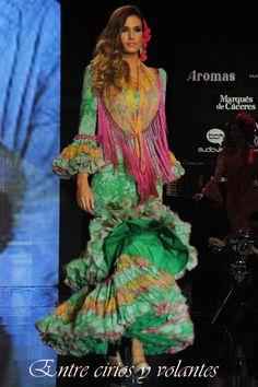 #TrajedeFlamenca en verde de #PilarVera.