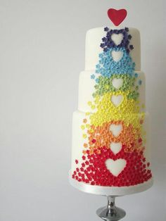 Vintage Inspired Mini Cakes My birthday cake! rainbow cake on cakes decor Cake Inspiration my birthday is coming up n I told my sister tha. Fancy Cakes, Cute Cakes, Pretty Cakes, Sweet Cakes, Gorgeous Cakes, Amazing Cakes, Rainbow Food, Rainbow Heart, Cake Rainbow