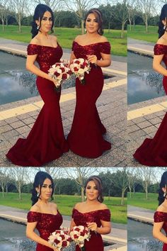 b5bb49eea05a 2018 Bridesmaid Dresses, Red Bridesmaid Dresses, Sequin Bridesmaid Dresses, Bridesmaid  Dresses Mermaid,