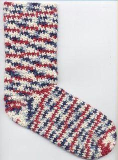South Bay Crochet - Toes Up Crochet Sock Pattern.  Free pattern