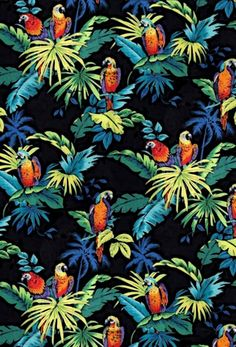 Wallpaper summer vintage tropical prints 21 new ideas Motif Tropical, Tropical Design, Tropical Pattern, Tropical Prints, Hawaiian Pattern, Tropical Birds, Fashion Wallpaper, Trendy Wallpaper, Background Vintage