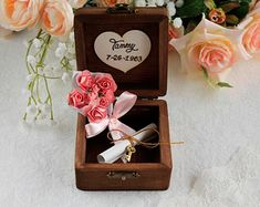 Bridesmaid proposal gifts custom wedding ring by LittleWoodCottage